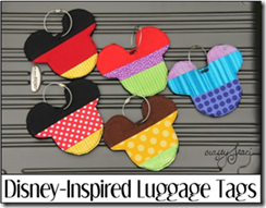 Disney-Inspired Luggage Tags