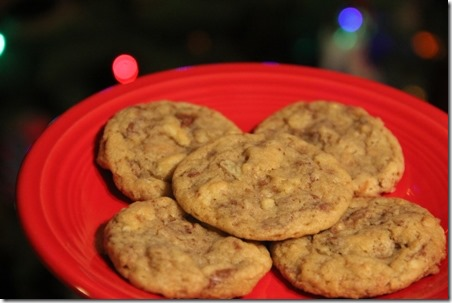 Bacon Toffee Potato Chip Cookies on Crafty Staci