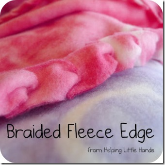 Braided Fleece Edge Blanket from Pieces by Polly