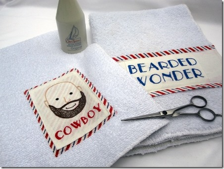 Burly Man Shaving Towels from Sew Mama Sew
