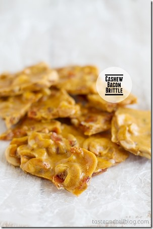 Cashew Bacon Brittle from Taste and Tell