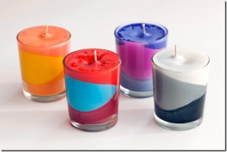 Color Block Candles from Brit and Co