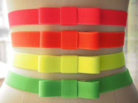 Neon Elastic Bow Belts from What I Do