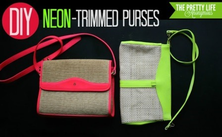 Neon Trimmed Purses from Pretty Life Girls