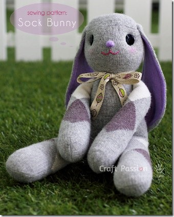 Lop Eared Sock Bunny by Craft Passion