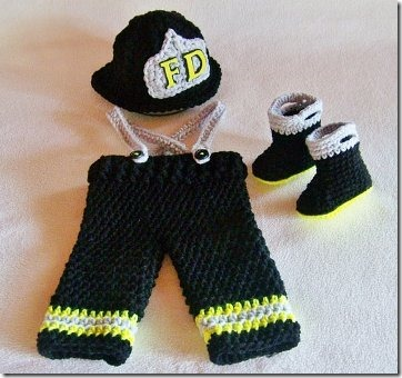 Newborn firefighter set from conniemariepfost on Etsy