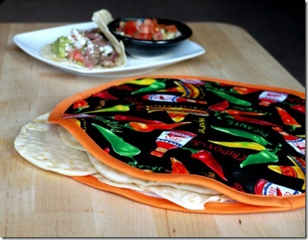 Fabric Tortilla Warmer from The Good Hearted Woman