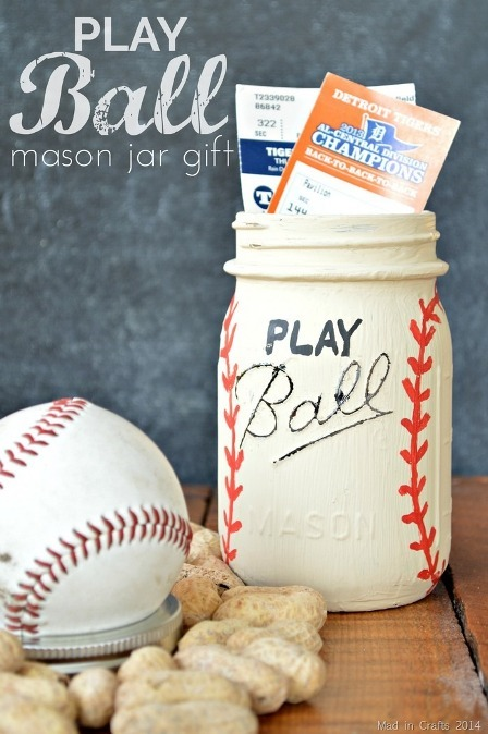 Play Ball Mason Jar Gift from Mad in Crafts