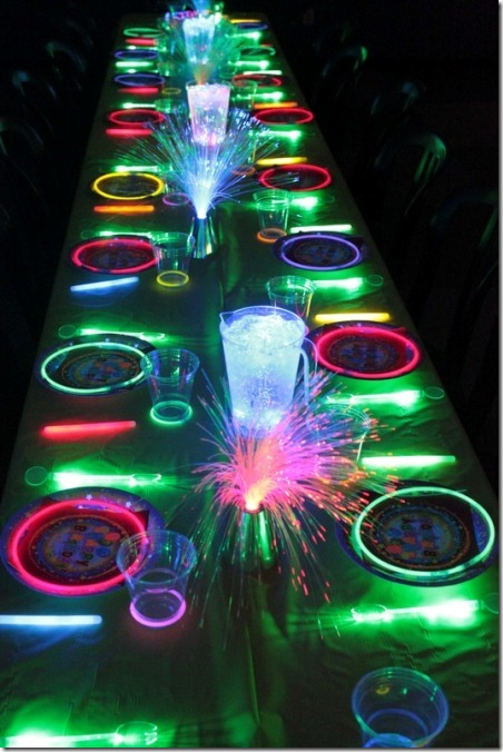 Neon Glow in the Dark Party from B Lovely Events