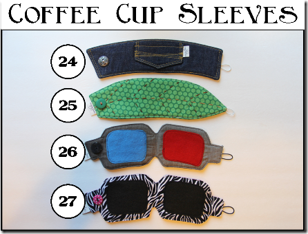 Coffee Cup Sleeves - Set C - Crafty Staci