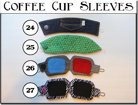 咖啡杯袖 - 设置C  -  Crafty Staci