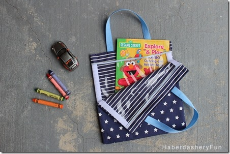 Velcro Kids Activity Bag from Haberdashery Fun