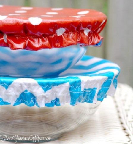 DIY可洗可重复使用的碗盖,来自于亲切的妻子