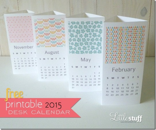 2015 Printable Calendar from Little Stuff