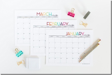 2015 Printable Calendar from Tomkat Studio