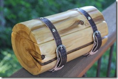 Cedar Log Wedding Ring Bearer Box - Crafty Staci 1