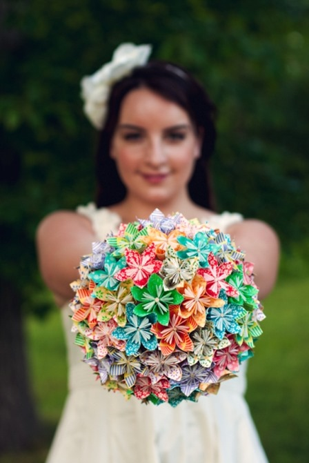 Origami Paper Flower Bouquet from Capitol Romance