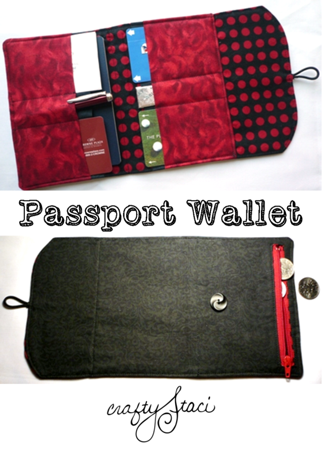 Passport Wallet from Crafty Staci