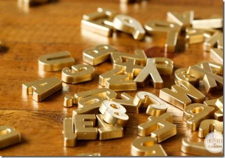 DIY黄金磁性字母,灵感来自魅力