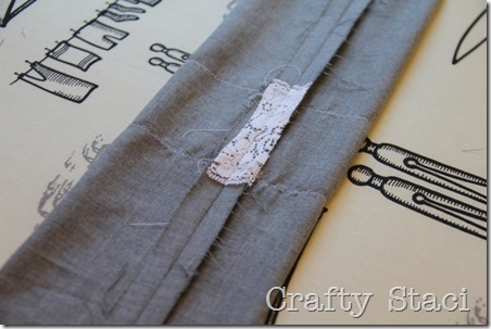 Linen and Lace Infinity Scarf - Crafty Staci 7