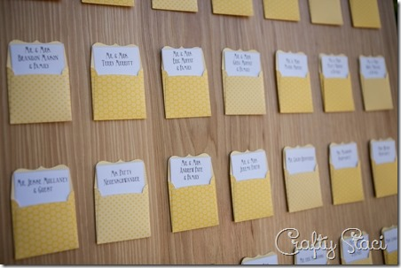 Escort cards - Crafty Staci