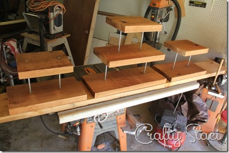 Finished cupcake stands on Crafty Staci