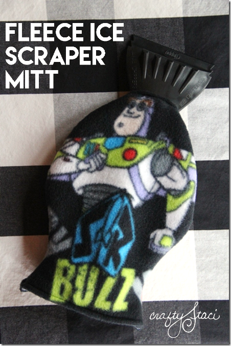 Fleece Ice Scraper Mitt by Crafty Staci