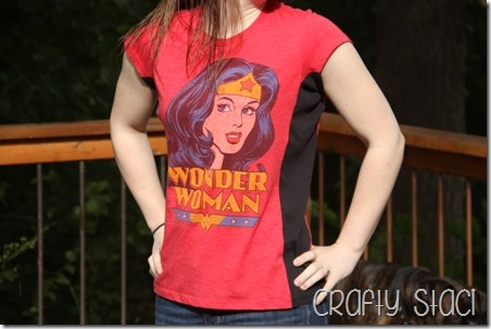 Wonder Woman Shirt Remodel - Crafty Staci 12