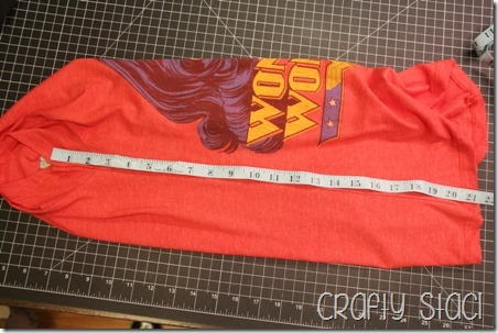 Wonder Woman Shirt Remodel - Crafty Staci 3