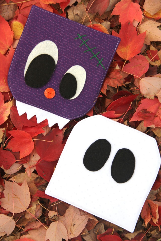 Ghost and Monster Hot Pads from Crafty Staci