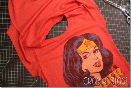 Wonder Woman Shirt Remodel - Crafty Staci 5