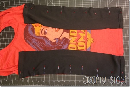Wonder Woman Shirt Remodel - Crafty Staci 8