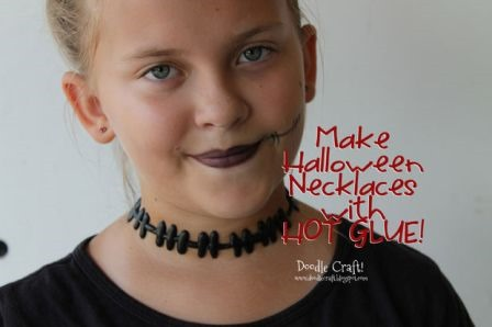 Halloween Necklaces Made with Hot Glue from doodlecraft on Instructables