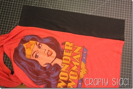 Wonder Woman Shirt Remodel - Crafty Staci 9