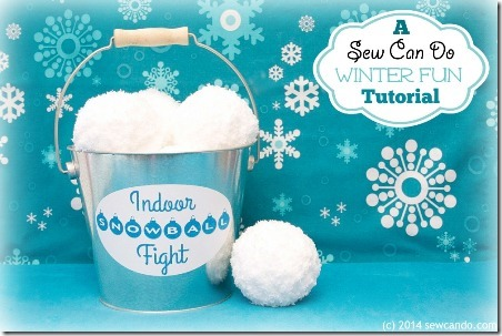 Indoor Snowball Fight Set from Sew Can Do
