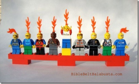 Bible Belt Balabusta Lego Menorah