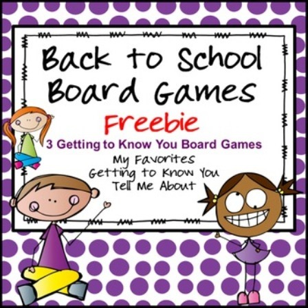 Back to School Board Games from Teachers Pay Teachers