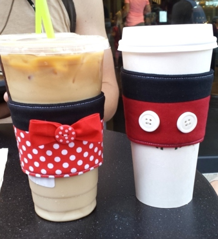 Mickey and Minnie Coffee Cup Sleeves at Disneyland