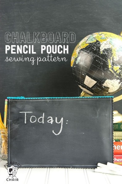 Chalkboard Pencil Pouch from Polkadot Chair