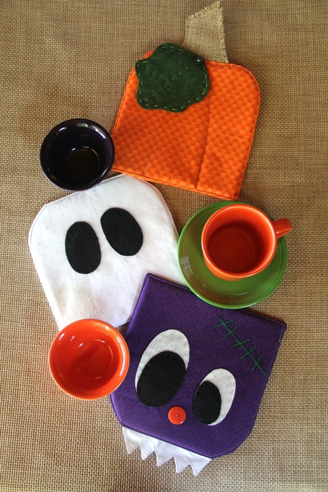 Monster, Ghost and Pumpkin Hot Pads from Crafty Staci