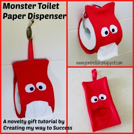 Monster Toilet Paper Dispenser from Creating my Way to Success