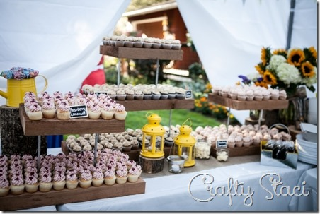 Rustic Cedar Cupcake Stand on Crafty Staci