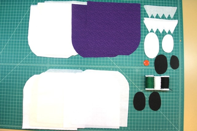 pieces for monster and ghost hot pads