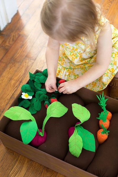 Plantable Felt Garden Box from A Beautiful Mess