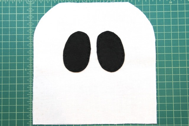 sewing on ghost eyes