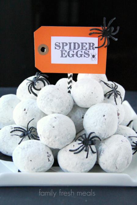 家庭新鲜餐的蜘蛛蛋