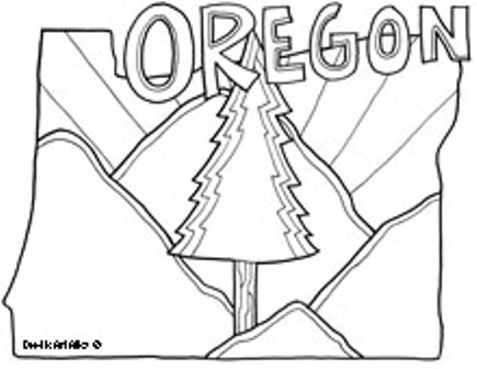 State Coloring Pages from Doodle Art Alley