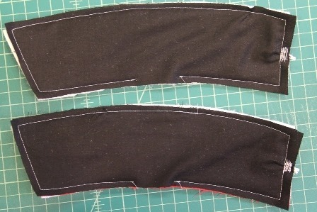 Stitch around outer edge of coffee sleeves
