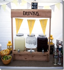 Wedding Drink Stand and Flavored Syrups - Crafty Staci