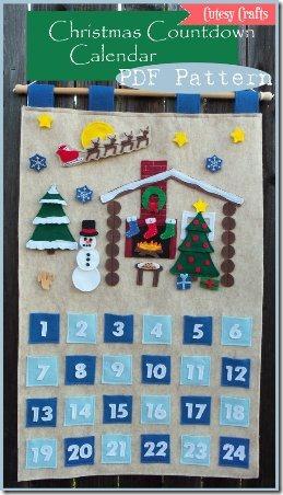 CutesyCraftsBoutique - Christmas Countdown Calendar